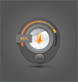 downloading with start button vector image vector image