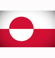 flag greenland vector image vector image