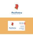flat cock logo and visiting card template vector image vector image