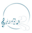 frame with music notes vector image