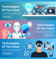 future technologies banners set vector image