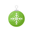 green christmas decoration with white snowflake in vector image vector image