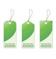 green shopping tags vector image vector image