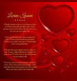 greeting love poster vector image vector image