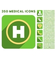 Helicopter Landing Circle Icon and Medical vector image
