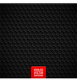 hexagons seamless black background vector image