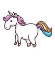 isolated magic unicorn vector image