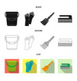 isolated object cleaning and service logo set vector image