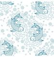 Koi carp pattern vector image