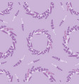lavender flowers wreaths purple seamless pattern vector image