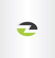 letter z elipse icon green black logo vector image vector image