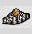 logo for basketball vector image vector image