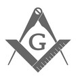 masonic square and compasses vector image vector image