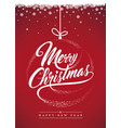 merry christmas background-decoration vector image