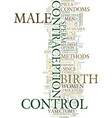 methods of male birth control text background vector image vector image