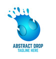 modern abstract drop logo vector image vector image