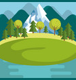 mountain landscape design vector image vector image