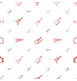musician icons pattern seamless white background vector image vector image