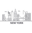 new york architecture line skyline vector image vector image