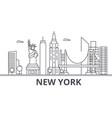 new york architecture line skyline vector image