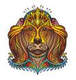 ornamental dog vector image vector image