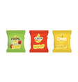 potato chips bags vector image vector image