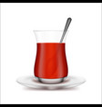 realistic 3d detailed turkish tea cup vector image