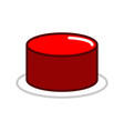 red button isolated press in case of danger vector image
