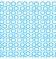 Repeating blue clouds seamless pattern vector image