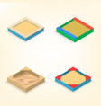 sandbox in isometric vector image