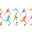 seamless pattern with jogging people vector image vector image