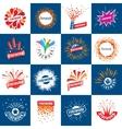 set logos for fireworks vector image vector image