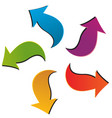 set of five colorful arrows vector image vector image