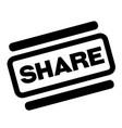 share black stamp vector image