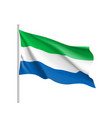 sierra leone realistic flag vector image vector image