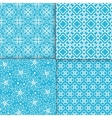 simple floral pattern set vector image vector image