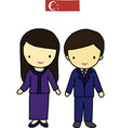 Singapore traditional costume vector image vector image