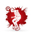soccer player bouncing a ball action designed on vector image
