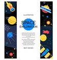 Space exploration - modern flat design style