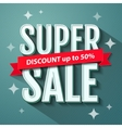 Super Sale inscription banner design template vector image vector image
