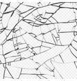 surface broken glass texture sketch shattered vector image