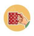 Tea cup in hand Icon vector image vector image