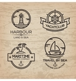 Travel by sea Set of Maritime collection logo vector image