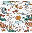 Underwater colorful engraving tropic pattern vector image vector image