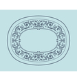 Vintage border frame with retro ornament pattern vector image