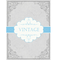 vintage framed background with label vector image vector image