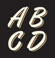 vintage letter abcd vector image