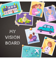 vision board composition vector image vector image