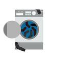 Washing machine and socks vector image vector image