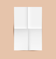 White Folded Paper Sheet vector image vector image